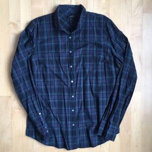 EUC J.Crew perfect shirt, Black Watch, 14T